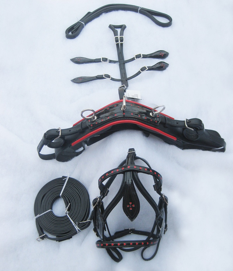 LEATHER MINIATURE DRIVING HARNESS
